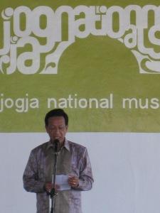pidato pembukaan oleh Sri Sultan Hamengku Buwono X